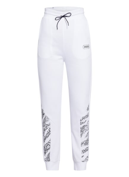 PUMA Sweatpants , Farbe: WEISS/ SCHWARZ/ DUNKELGRAU (Bild 1)