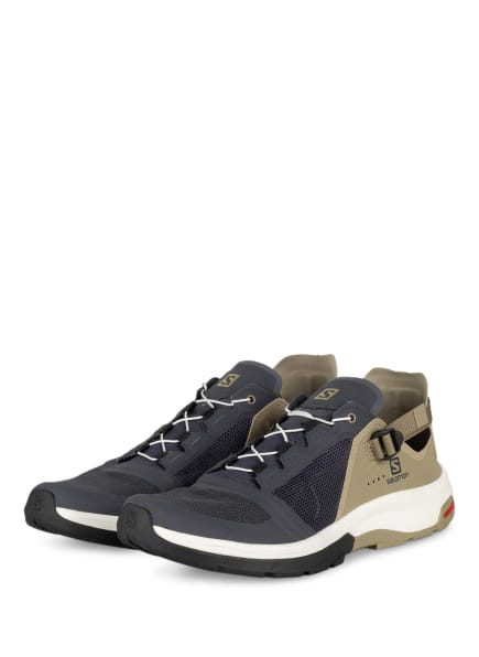 SALOMON Outdoor-Schuhe TECH AMPHIBIAN 4, Farbe: DUNKELGRAU/ OLIV (Bild 1)