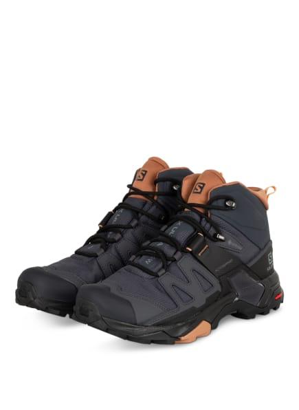 SALOMON Outdoor-Schuhe X ULTRA 4 MID GTX, Farbe: DUNKELGRAU/ NUDE/ SCHWARZ (Bild 1)