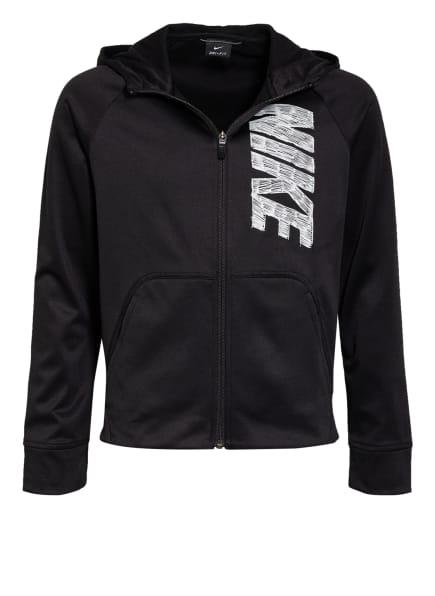 Nike Trainingsjacke THERMA, Farbe: SCHWARZ/ WEISS (Bild 1)