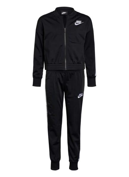 Nike Trainingsanzug mit Galonstreifen, Farbe: SCHWARZ/ WEISS (Bild 1)