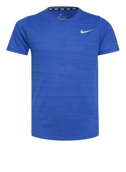 Nike T-Shirt DRI-FIT MILER, Farbe: BLAU (Bild 1)