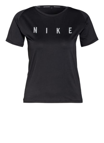 Nike Laufshirt MILER RUN DIVISION mit Mesh-Einsatz, Farbe: SCHWARZ (Bild 1)