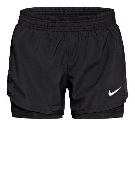 Nike 2-in-1 Laufshorts 2-IN-1 RUNNING mit Mesh-Einsatz, Farbe: SCHWARZ (Bild 1)