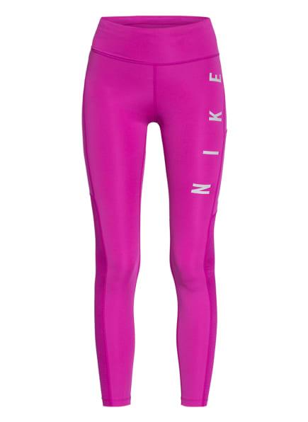 Nike Tights EPIC FAST RUN DIVISION mit Mesh-Einsatz, Farbe: NEONLILA/ HELLGRAU (Bild 1)