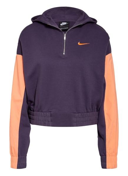 Nike Hoodie SPORTSWEAR ICON CLASH, Farbe: DUNKELLILA/ NUDE (Bild 1)