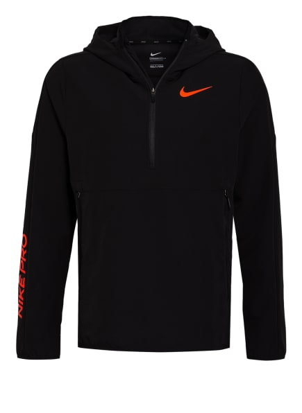 Nike Schlupfjacke PRO, Farbe: SCHWARZ (Bild 1)