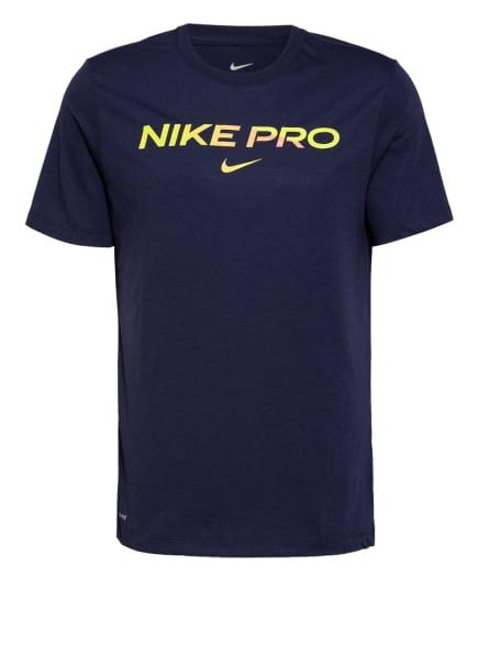 Nike T-Shirt PRO, Farbe: DUNKELBLAU (Bild 1)