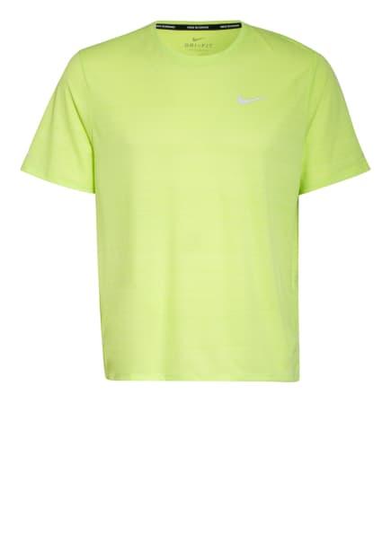 Nike Laufshirt DRI-FIT MILER, Farbe: NEONGRÜN (Bild 1)