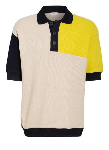 CLOSED Piqué-Poloshirt, Farbe: BEIGE/ GELB/ DUNKELBLAU (Bild 1)