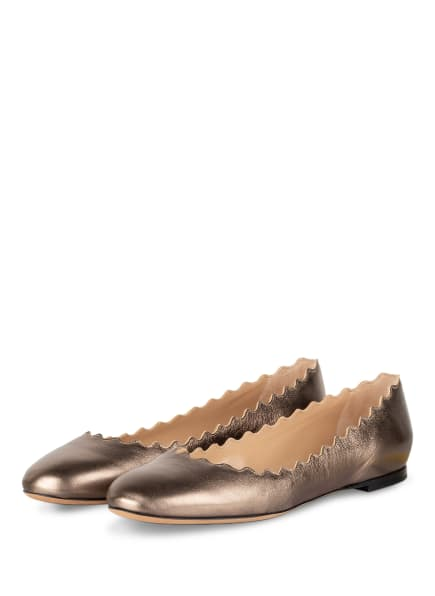 Chloé Ballerinas LAUREN, Farbe: SILBER (Bild 1)