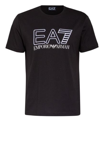 EA7 EMPORIO ARMANI T-Shirt mit Stickereien, Farbe: SCHWARZ/ WEISS (Bild 1)