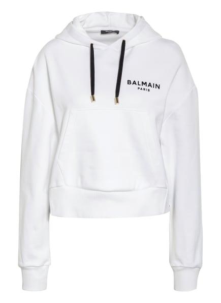 BALMAIN Hoodie, Farbe: WEISS/ SCHWARZ (Bild 1)