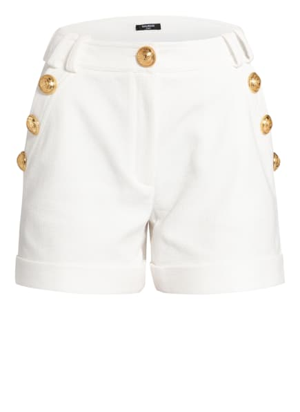 BALMAIN Piqué-Shorts , Farbe: WEISS (Bild 1)