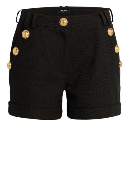 BALMAIN Piqué-Shorts , Farbe: SCHWARZ (Bild 1)