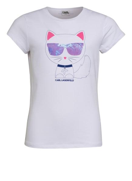 KARL LAGERFELD KIDS T-Shirt, Farbe: WEISS/ BLAU/ ROSA (Bild 1)