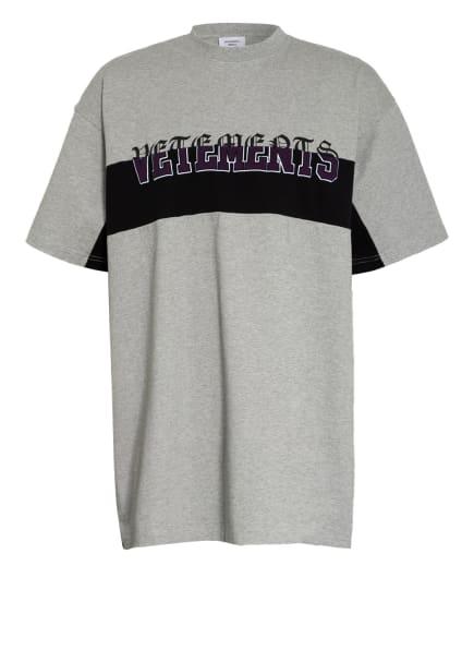 VETEMENTS Oversized-Shirt , Farbe: GRAU/ SCHWARZ (Bild 1)
