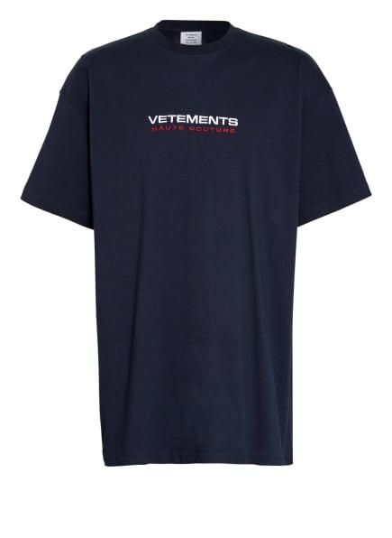 VETEMENTS Oversized-Shirt, Farbe: DUNKELBLAU (Bild 1)