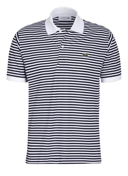 LACOSTE Piqué-Poloshirt Classic Fit, Farbe: WEISS/ DUNKELBLAU (Bild 1)