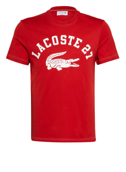 LACOSTE T-Shirt , Farbe: ROT/ WEISS (Bild 1)