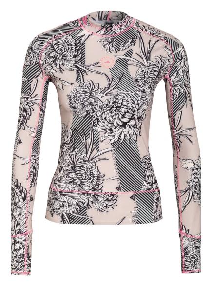adidas by Stella McCartney Longsleeve TRUEPURPOSE, Farbe: NUDE/ SCHWARZ/ NEONROSA (Bild 1)