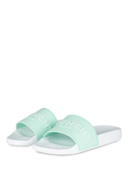 GIVENCHY Pantoletten, Farbe: MINT/ WEISS (Bild 1)