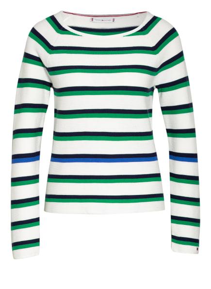 TOMMY HILFIGER Pullover, Farbe: WEISS/ GRÜN/ DUNKELBLAU (Bild 1)