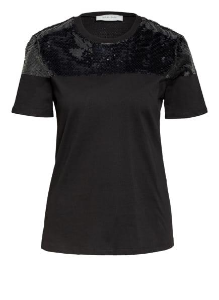 SPORTMAX T-Shirt KENTIA mit Paillettenbesatz , Farbe: SCHWARZ (Bild 1)