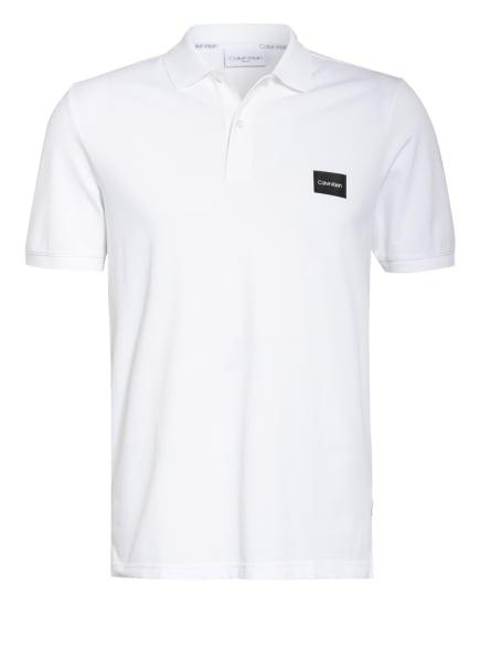 Calvin Klein Piqué-Poloshirt Slim Fit, Farbe: WEISS (Bild 1)