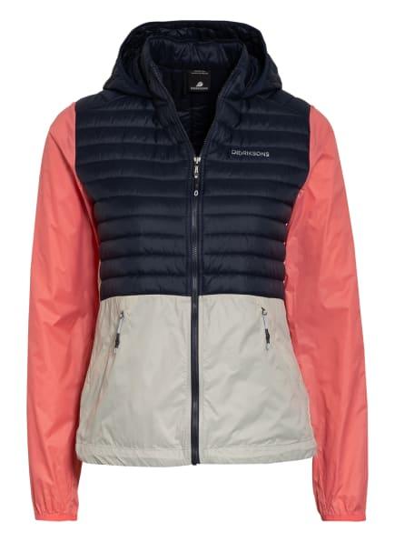 DIDRIKSONS Outdoor-Jacke MAJ, Farbe: DUNKELBLAU/ LACHS/ HELLGRAU (Bild 1)