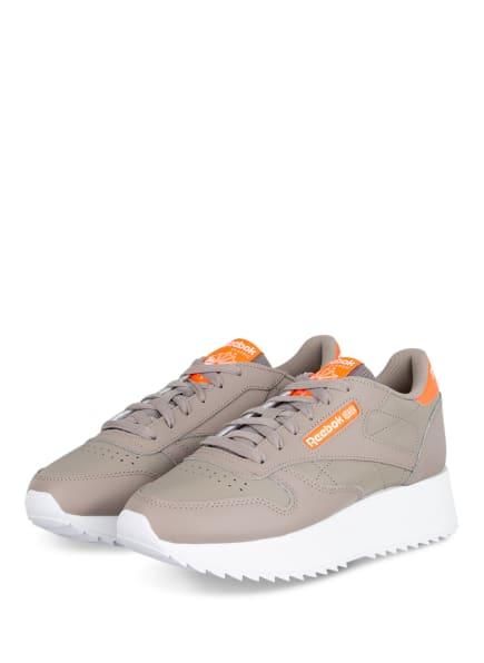 Reebok CLASSIC Plateau-Sneaker CLASSIC LEATHER DOUBLE, Farbe: TAUPE (Bild 1)