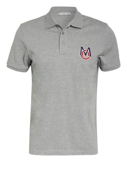 MONCLER Piqué-Poloshirt, Farbe: GRAU (Bild 1)