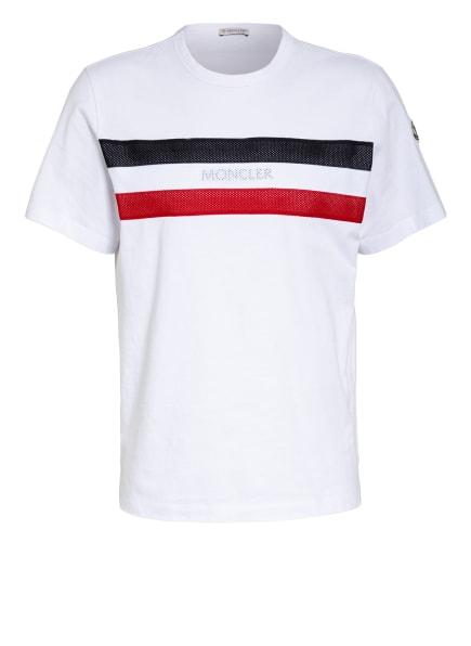 MONCLER T-Shirt, Farbe: WEISS/ SCHWARZ/ ROT (Bild 1)