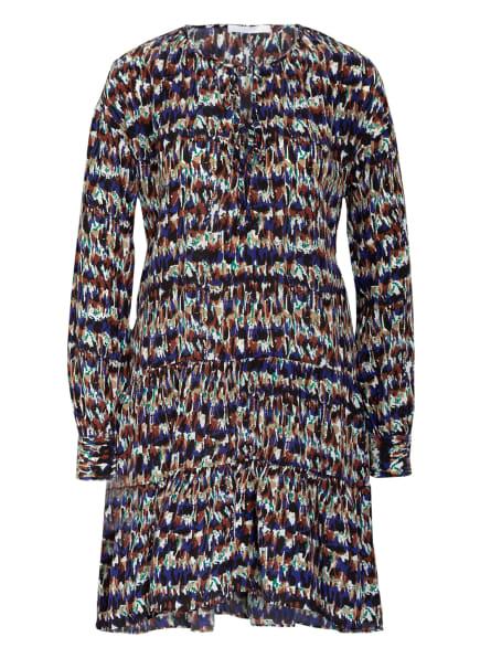 BOSS Kleid DEFFEI mit Seide, Farbe: DUNKELBLAU/ CAMEL/ COGNAC (Bild 1)