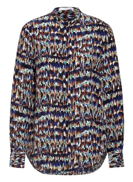 BOSS Bluse BEFELIZE mit Seide, Farbe: BLAU/ BRAUN/ WEISS (Bild 1)