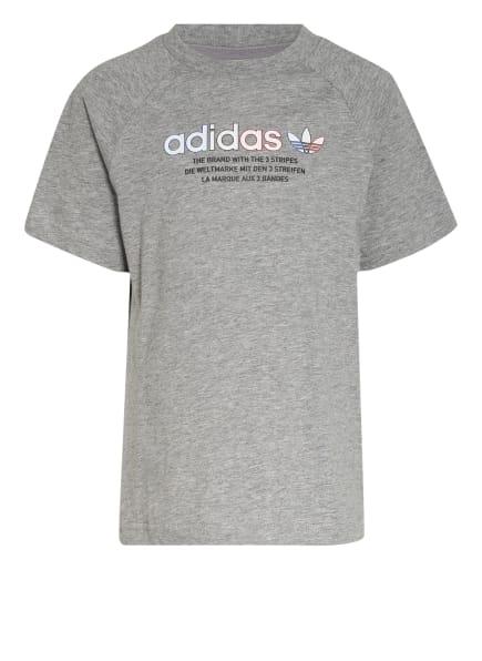 adidas Originals T-Shirt ADICOLOR, Farbe: GRAU (Bild 1)