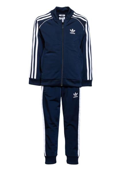adidas Originals Trainingsanzug ADICOLOR, Farbe: DUNKELBLAU/ WEISS (Bild 1)