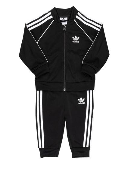 adidas Originals Trainingsanzug , Farbe: SCHWARZ/ WEISS (Bild 1)