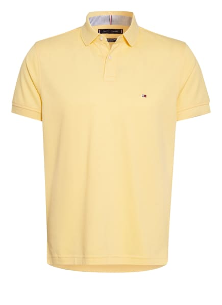 TOMMY HILFIGER Piqué-Poloshirt Regular Fit, Farbe: GELB (Bild 1)