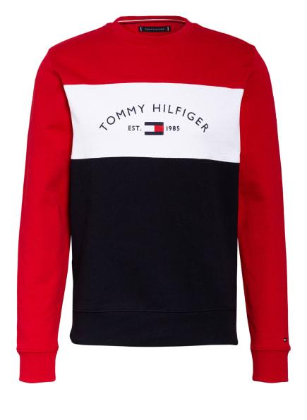 TOMMY HILFIGER Sweatshirt, Farbe: ROT/ DUNKELBLAU/ WEISS (Bild 1)