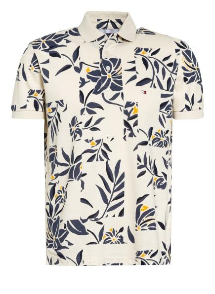 TOMMY HILFIGER Piqué-Poloshirt Regular Fit, Farbe: ECRU/ BLAU (Bild 1)