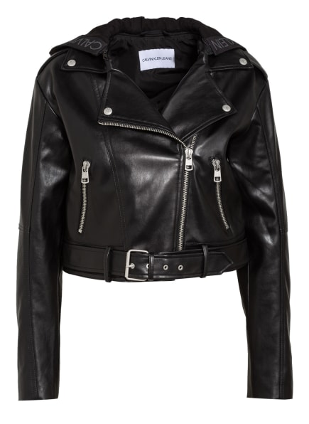 Calvin Klein Jeans Bikerjacke, Farbe: SCHWARZ (Bild 1)