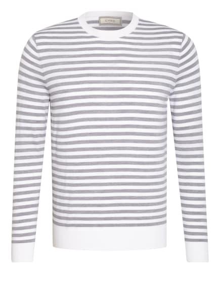 CHAS Pullover aus Merinowolle , Farbe: WEISS/ GRAU (Bild 1)