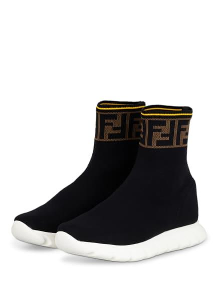 FENDI Hightop-Sneaker, Farbe: SCHWARZ/ BEIGE (Bild 1)