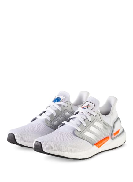 adidas Laufschuhe ULTRABOOST 20, Farbe: WEISS/ HELLGRAU (Bild 1)