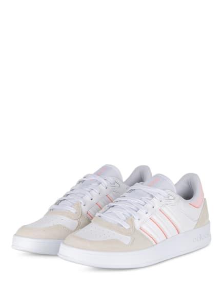adidas Sneaker BREAKNET PLUS, Farbe: WEISS/ HELLROSA/ ECRU (Bild 1)
