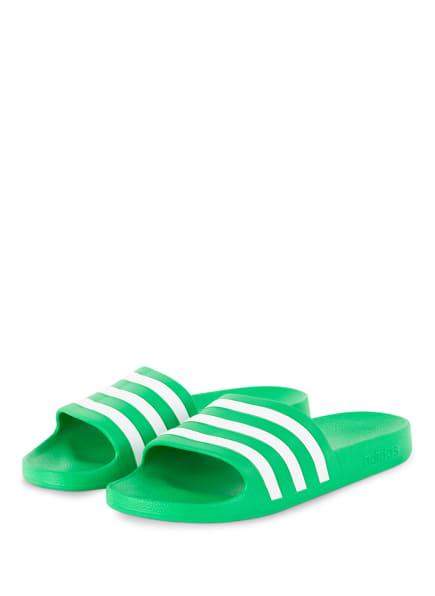 adidas Pantoletten ADILETTE AQUA, Farbe: HELLGRÜN/ WEISS (Bild 1)