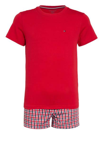 TOMMY HILFIGER Shorty-Schlafanzug, Farbe: ROT/ SCHWARZ/ WEISS (Bild 1)