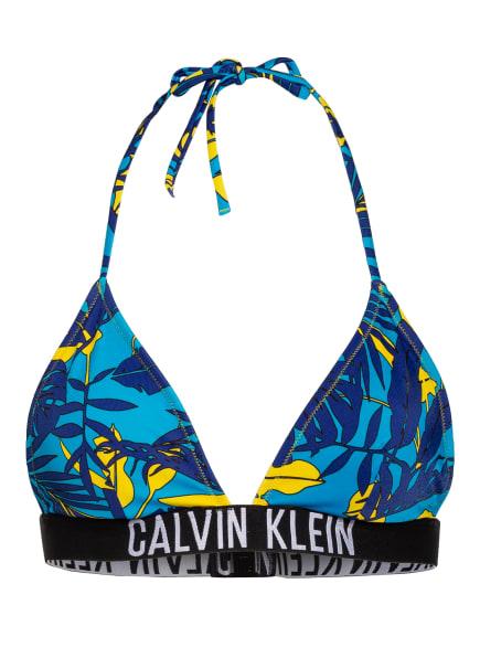 Calvin Klein Triangel-Bikini-Top , Farbe: TÜRKIS/ DUNKELBLAU/ DUNKELGELB (Bild 1)