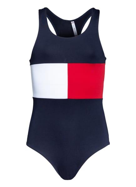 TOMMY HILFIGER Badeanzug, Farbe: DUNKELBLAU/ WEISS/ ROT (Bild 1)